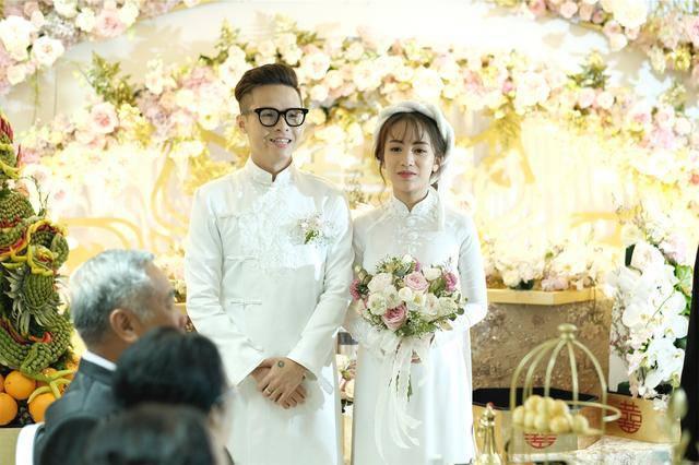 Nhà siêu giàu, con gái đại gia Minh Nhựa vẫn diện lại áo dài cưới trong lễ đón dâu-3