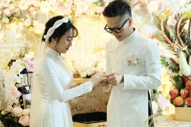 Nhà siêu giàu, con gái đại gia Minh Nhựa vẫn diện lại áo dài cưới trong lễ đón dâu-4
