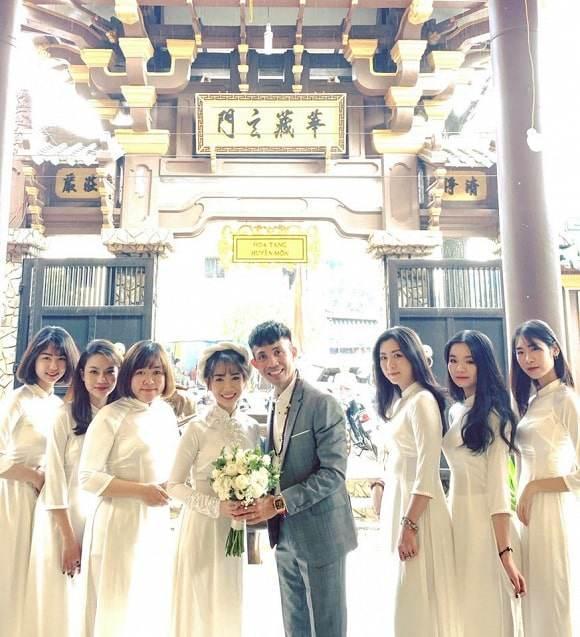 Nhà siêu giàu, con gái đại gia Minh Nhựa vẫn diện lại áo dài cưới trong lễ đón dâu-6