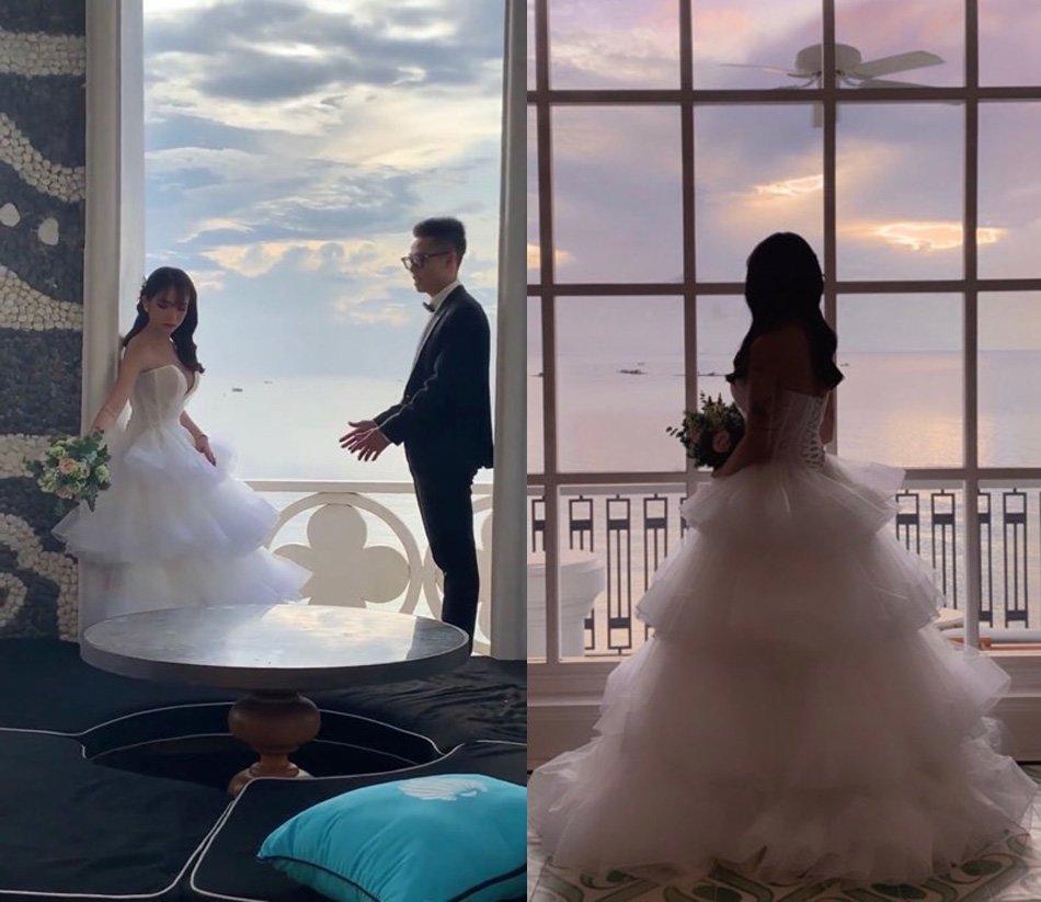 Nhà siêu giàu, con gái đại gia Minh Nhựa vẫn diện lại áo dài cưới trong lễ đón dâu-11