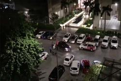 Bị đâm bằng dao, thanh niên lái ô tô tông thẳng 2 người ở chung cư Sài Gòn