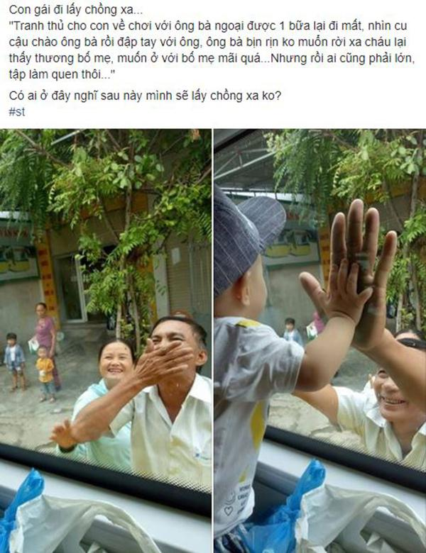 VZN News: Xúc động hình ảnh ông bà ngoại bịn rịn chia tay cháu qua cửa kính ôtô làm ai lấy chồng xa đều rơi nước mắt-1