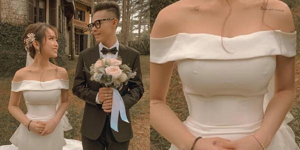 Khoe ảnh sau đám cưới, ái nữ nhà Minh Nhựa làm ai cũng tưởng đang thả rông vòng một-3