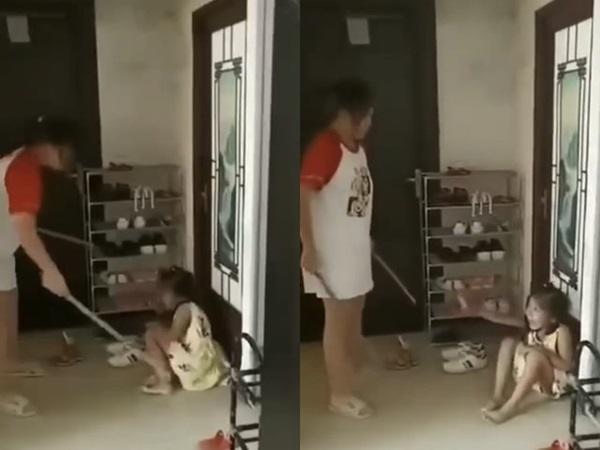 Phẫn nộ người mẹ dùng gậy đánh con như động vật, bố thản nhiên ngồi nói: Đánh nữa đi-2