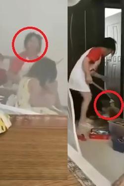 Phẫn nộ người mẹ dùng gậy đánh con như động vật, bố thản nhiên ngồi nói: