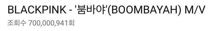 MV Boombayah chính thức cán mốc 700 triệu lượt xem giúp BlackPink trở thành nhóm nhạc KPop đầu tiên làm nên thành tích mới-1