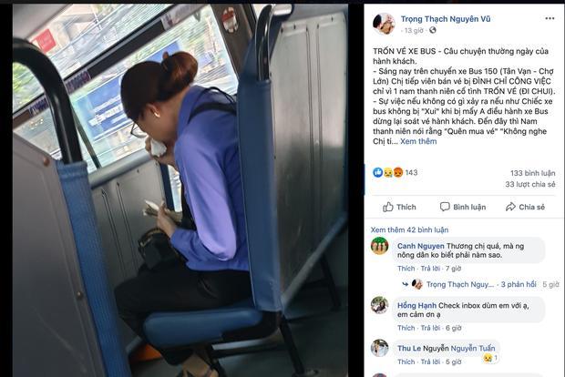 Nam thanh niên đi xe buýt quên mua vé, nữ phụ xe ở Sài Gòn khóc nức nở vì bị đình chỉ-1