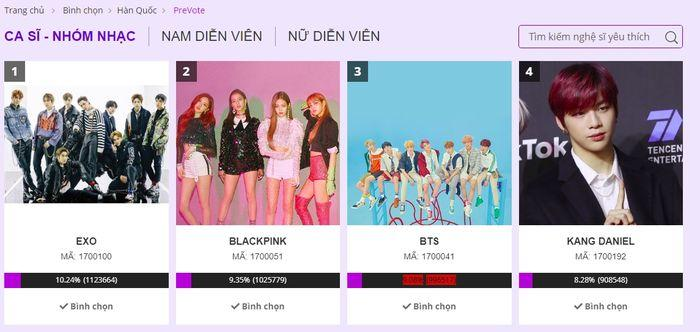 Đề cử Nghệ sĩ Hàn Quốc được yêu thích nhất tại AAA 2019: EXO xuất sắc dẫn đầu, BlackPink - BTS rượt sát-2