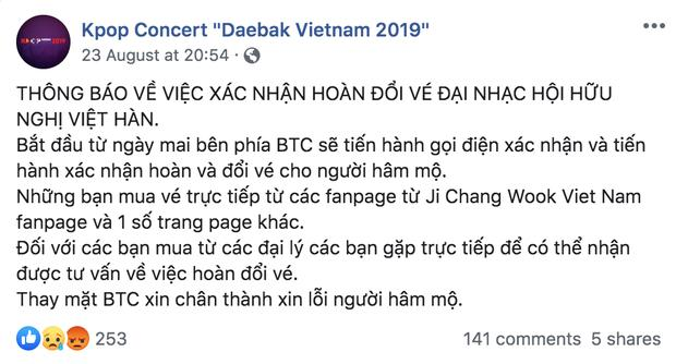 VZN News: BTC show Hàn - Việt có Ji Chang Wook bị nghi lừa đảo khi tuyên bố hủy diễn mà vẫn om tiền vé, và giờ là mất liên lạc luôn-2