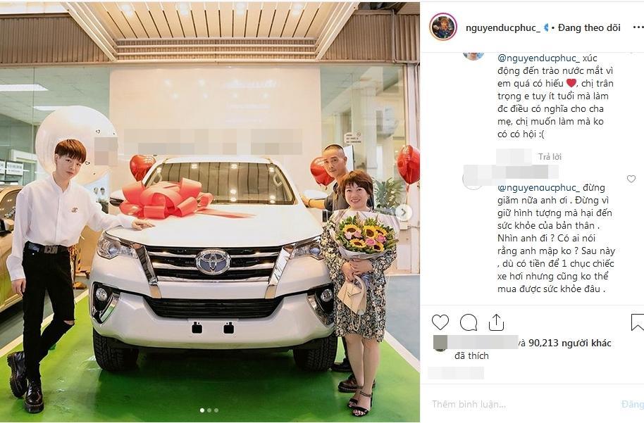 VZN News: Đức Phúc bóp mồm bóp miệng mua xe cho bố, fans cầu xin: Đừng giảm cân nữa anh ơi-8