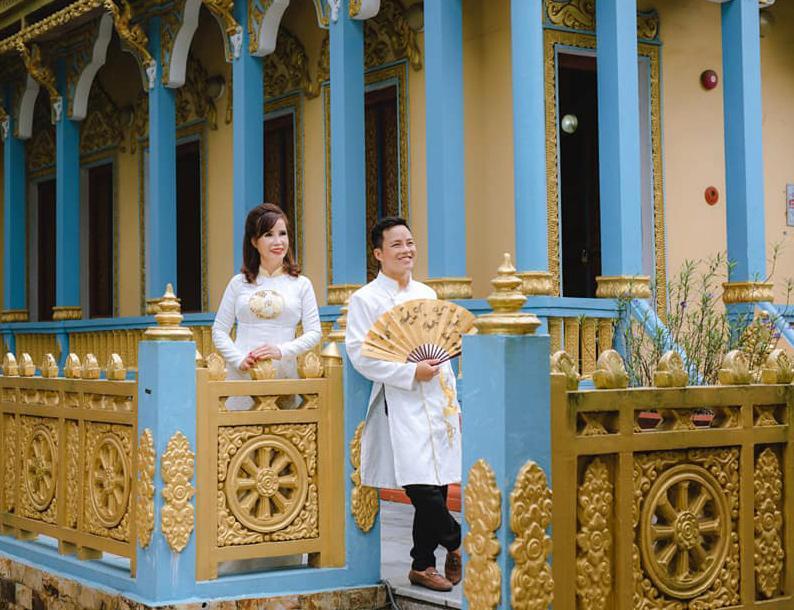 Hé lộ hình ảnh cô dâu 62 ở Cao Bằng trong bữa tiệc rình rang kỉ niệm 1 năm ngày cưới chồng 27 tuổi-3