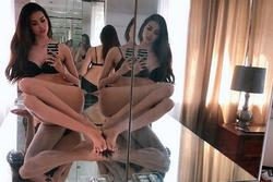 Hoa hậu Phạm Hương phô diễn hình thể với nội y