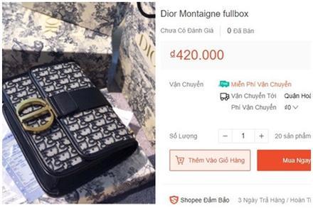 Các shop online thi nhau bán túi Dior 400.000 đồng giống của Sĩ Thanh