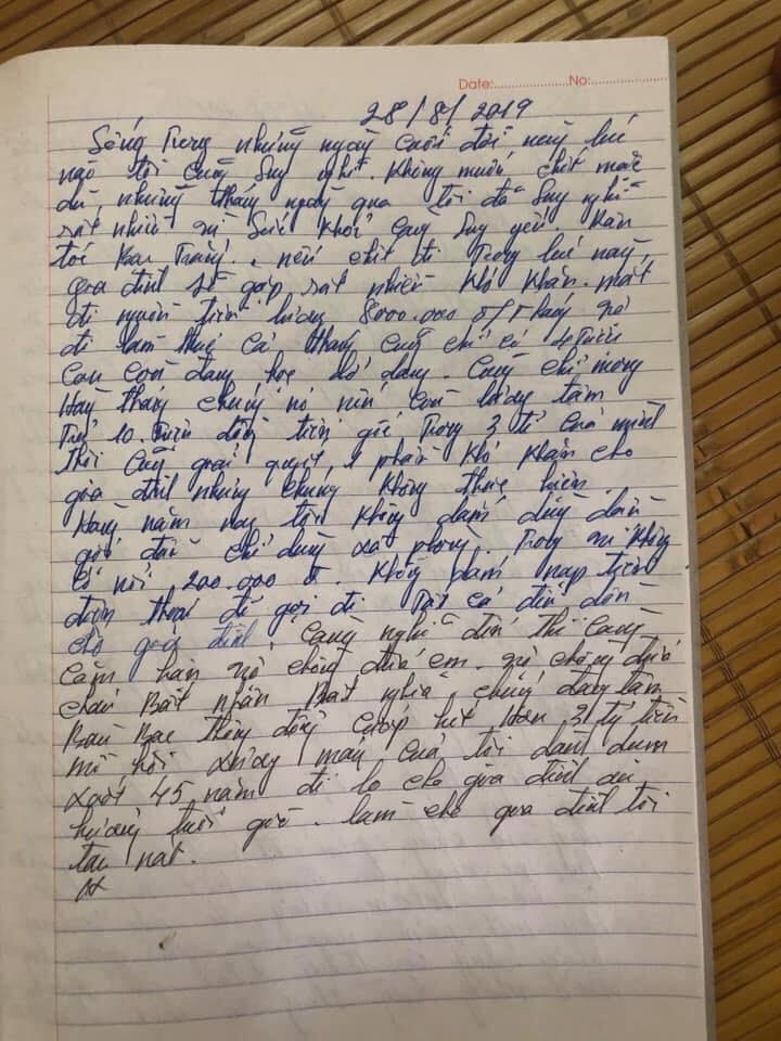 Xôn xao lá thư đối tượng ở Thái Nguyên để lại trước khi giết em gái: Bị cướp hết tiền dành dụm 45 năm-2