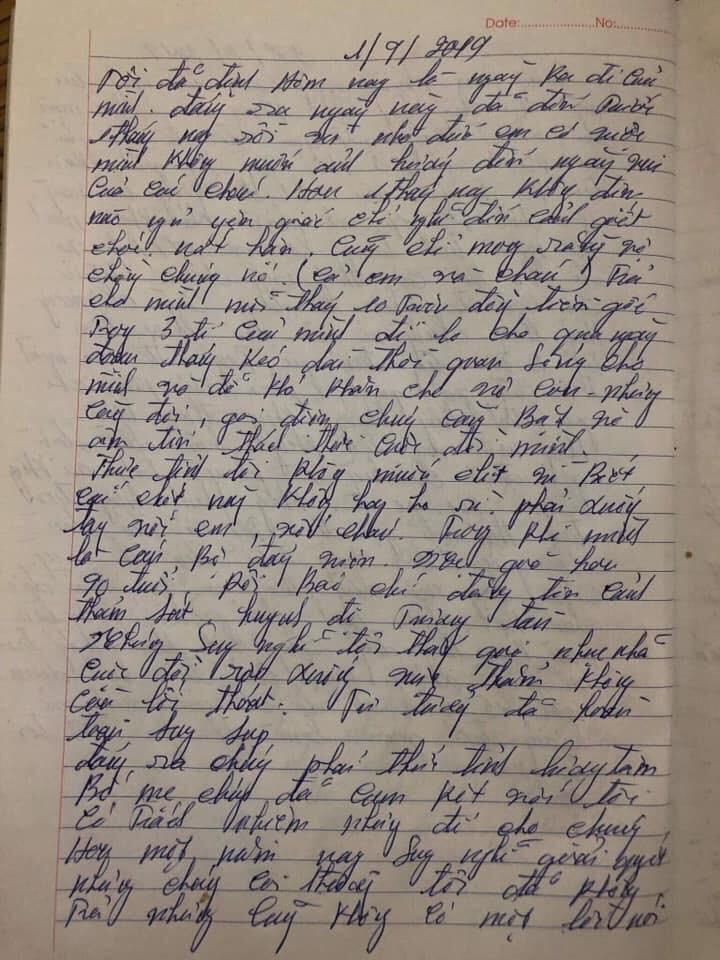 Xôn xao lá thư đối tượng ở Thái Nguyên để lại trước khi giết em gái: Bị cướp hết tiền dành dụm 45 năm-4