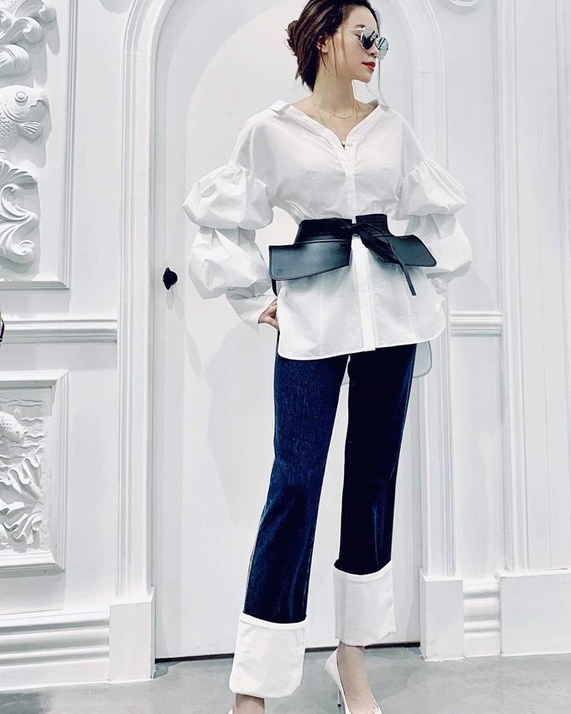 Kỳ Duyên khoe thời trang sân bay sương sương nửa tỷ - Văn Mai Hương bị chê già như thím vì set đồ hoa-3
