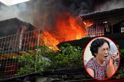 Cháy tại khu tập thể Kim Liên, người dân khóc ngất vì ngọn lửa bốc lên cao vút