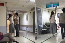 Cô gái làm giá đỡ truyền dịch di động cho bạn trai, dân mạng tấm tắc khen 'xứng đáng yêu cả đời'