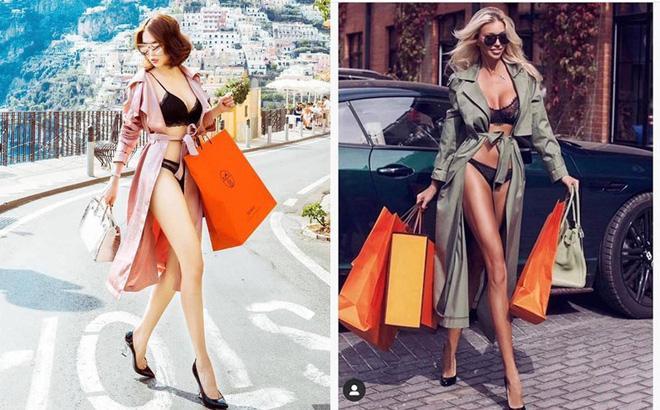 Dân mạng bóc phốt Ngọc Trinh ăn cắp ý tưởng mặc nội y shopping trên phố hóa ra mẫu nhà người ta-8