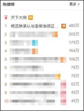 Giáo chủ khả ái Dương Thừa Lâm thông báo kết hôn, lập tức tên vọt lên top 1 tìm kiếm Weibo-3