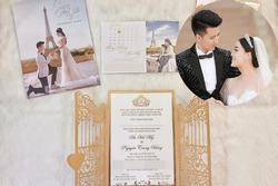 'Nữ giảng viên hotgirl' khoe thiệp mời đẹp long lanh, tiết lộ nhiều bí mật trước thềm đám cưới