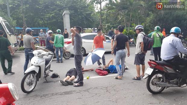 Hà Nội: Xe máy chạy với tốc độ cao đâm vào nữ sinh qua đường, nạn nhân văng xa 2m-1