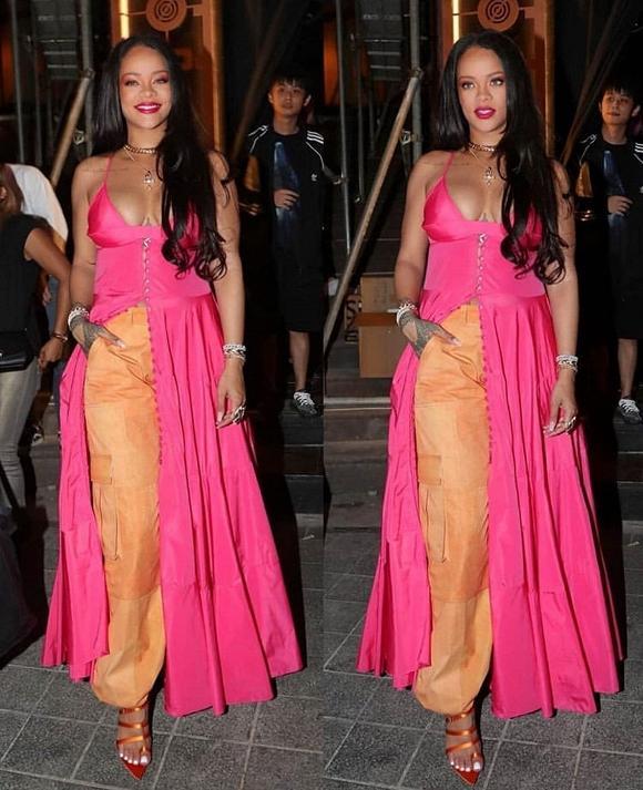 Linh Rin, Đoan Trang, Rihanna đều mặc xấu chỉ vì gam màu hồng sến sẩm-6