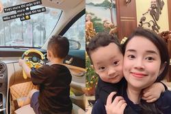 Ly Kute gây xôn xao khi để con trai 3 tuổi cầm vô lăng điều khiển ôtô nhưng sự thật mới ngã ngửa