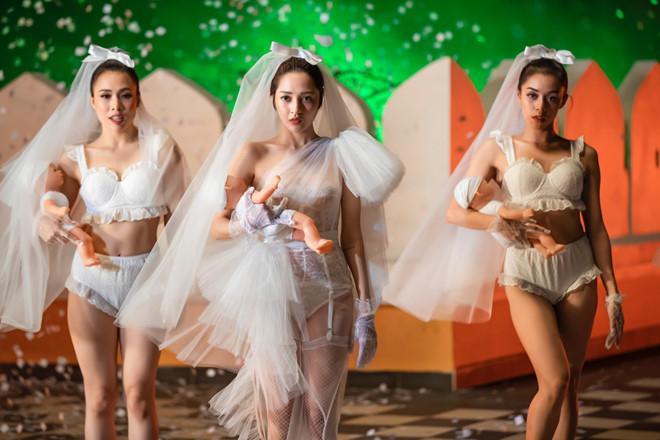 Bảo Anh diện mốt không nội y, váy cưới xuyên thấu trong MV Ai cần ai-8