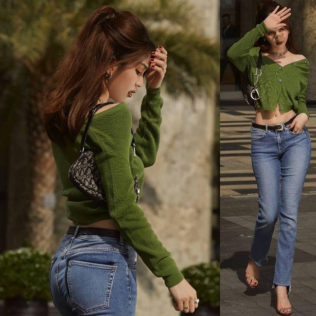 Ngọc Trinh bắt chước Kendall Jenner, Bella Hadid lăng xê kiểu túi vintage kẹp nách-8
