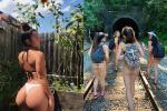 Dân tình bày tỏ 'cạn lời' với 4 cô gái hiên ngang diện mỗi bikini khám phá chốn linh thiêng