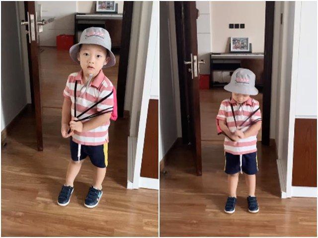 Khoe clip con trai siêu đáng yêu khi đến trường, hotmom Ly Kute bị soi ra điểm bất thường-2