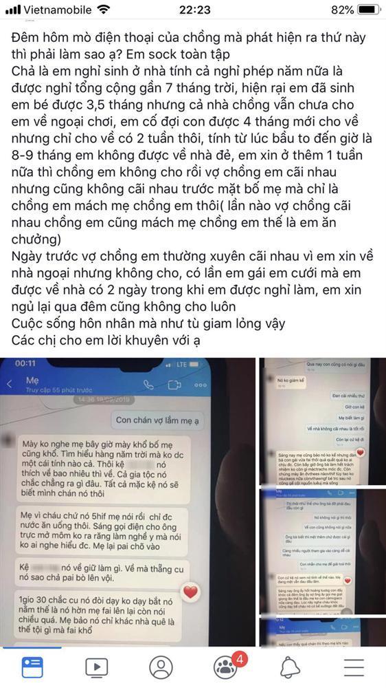 Xem điện thoại chồng, vợ cay đắng đọc được tin nhắn đầy âm mưu của mẹ chồng và chồng mình-1
