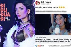 Bích Phương cười xỉu khi xem parody 'Đi đu đưa đi' của BB Trần