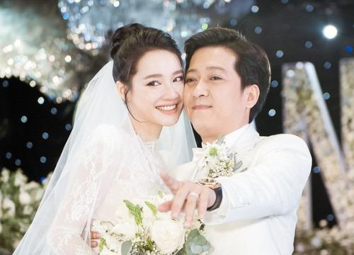 Mặc váy cưới lộng lẫy, Nhã Phương nói về 1 năm vui và hạnh phúc sau khi lấy Trường Giang-1