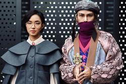 Châu Bùi diện đồ 'chống thị phi, khẩu nghiệp' ở tuần lễ thời trang Milan