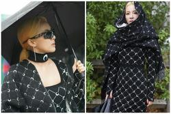 Dara trùm khăn kín mít vẫn sang chảnh vô đối tại Paris Fashion Week
