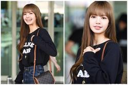 Lisa Black Pink tóc nâu tỏa sáng tại sân bay, thẳng tiến tới Tuần lễ thời trang Paris với hội chị em