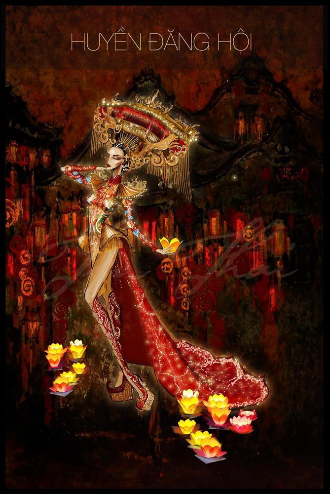 Trang phục dân tộc của Á hậu Kiều Loan tại Miss Grand International sẽ có 2000 bóng đèn led để mô phỏng Hội An-2