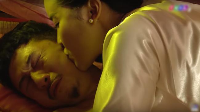 Lâm Vỹ Dạ thẳng tay tát Hứa Minh Đạt sau khi xem cảnh nóng của chồng và Cao Thái Hà-1