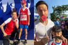 Kim Lý và Subeo quấn quít vui chơi chẳng khác nào bố con