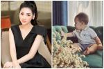 Á hậu Tú Anh chính thức công khai gương mặt con trai sau 9 tháng giấu kín