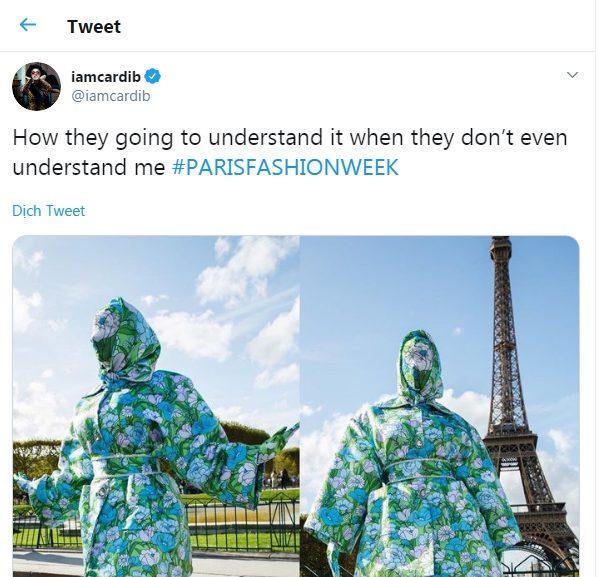 Cardi B gây sốc với trang phục kín mít như ninja tại tuần lễ thời trang Paris 2019-9