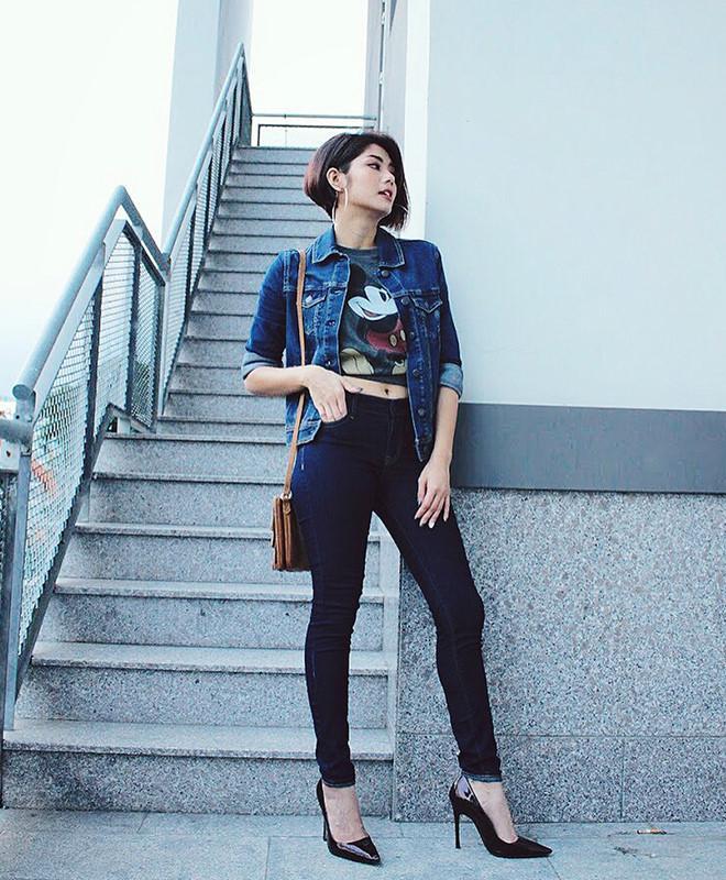 Bí quyết phối đồ với quần jeans đẹp như Hà Tăng và dàn mỹ nhân Việt-7