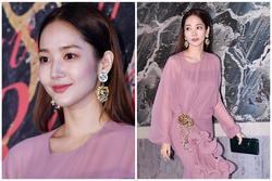 'Tuyệt phẩm dao kéo' Park Min Young duyên dáng với đầm hồng pastel kiểu cách