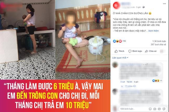 Làm lương 6 triệu mà chê vợ ở nhà chăm con lười chảy thây, anh chồng bị mẹ bỉm sữa đáp trả cực gắt làm cả nghìn chị em hả hê-1