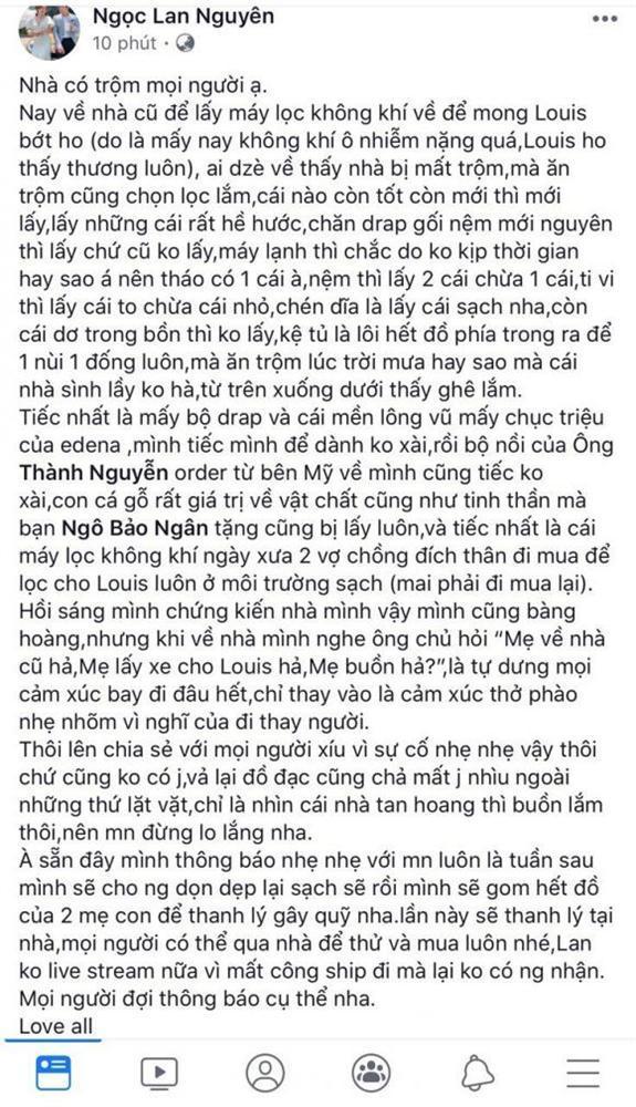 Sao Việt bị trộm đột nhập vào nhà: Người mất đồ kỷ niệm, kẻ bị khoắng sạch gia sản hàng tỷ đồng-1