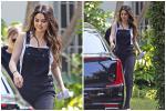 Selena Gomez mặc quần yếm xinh đẹp, phớt lờ đám cưới Justin Bieber
