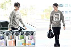 Lee Min Ho được khen đẹp như chụp họa báo khi xuất hiện ở sân bay