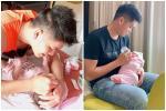 Lê Phương khoe chồng trẻ chăm con, dân mạng xuýt xoa: 'Anh ấy khéo hơn mẹ bỉm sữa'
